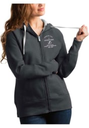 Antigua Tampa Bay Lightning Womens Grey 2021 Stanley Cup Champions Victory Long Sleeve Full Zip Jacket