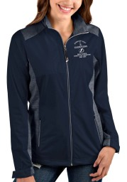 Antigua Tampa Bay Lightning Womens Navy Blue 2021 Stanley Cup Champions Revolve Light Weight Jacket