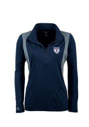 Antigua Penn Womens Navy Blue Delta 1/4 Zip Pullover