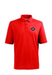 Antigua Chicago Fire Mens Red Pique Short Sleeve Polo