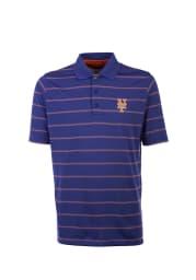 Antigua New York Mets Mens Blue Deluxe Short Sleeve Polo