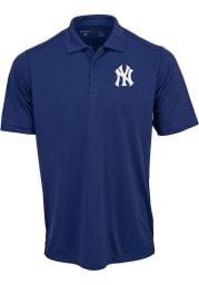 Antigua New York Yankees Mens Navy Blue Tribute Short Sleeve Polo