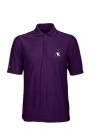 Antigua Northwestern Wildcats Mens Purple Illusion Short Sleeve Polo