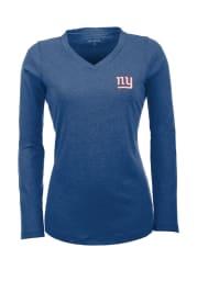 Antigua New York Giants Womens Blue Flip Long Sleeve Women's V-Neck