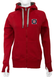 Antigua Chicago Fire Womens Red Victory Long Sleeve Full Zip Jacket