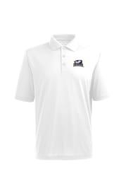 Antigua La Salle Explorers Mens White Pique Xtra-Lite Short Sleeve Polo