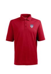 Antigua Pennsylvania Quakers Mens Red Pique Xtra-Lite Short Sleeve Polo