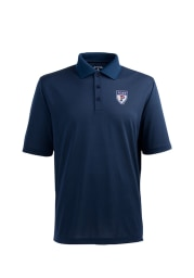 Antigua Pennsylvania Quakers Mens Navy Blue Pique Xtra-Lite Short Sleeve Polo