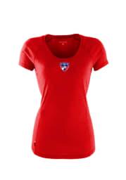 Antigua FC Dallas Womens Red Pep Short Sleeve Scoop