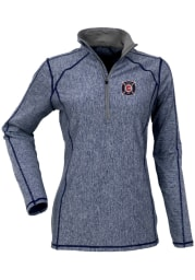 Antigua Chicago Fire Womens Navy Blue Tempo 1/4 Zip Pullover