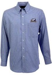 Antigua La Salle Explorers Mens Navy Blue Associate Long Sleeve Dress Shirt