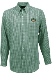 Antigua Ohio Bobcats Mens Green Associate Long Sleeve Dress Shirt