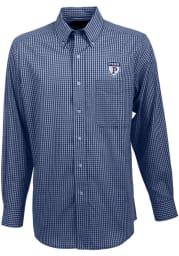 Antigua Pennsylvania Quakers Mens Navy Blue Associate Long Sleeve Dress Shirt