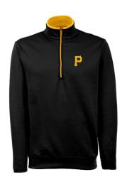 Antigua Pittsburgh Pirates Mens Black Leader Long Sleeve 1/4 Zip Pullover