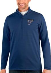 Antigua St Louis Blues Mens Navy Blue Rally Long Sleeve 1/4 Zip Pullover