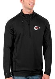 Antigua Kansas City Chiefs Mens Black Generation Long Sleeve 1/4 Zip Pullover