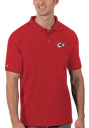 Antigua Kansas City Chiefs Mens Red Legacy Pique Short Sleeve Polo