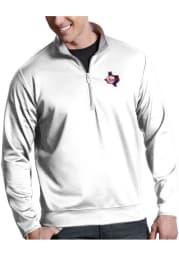 Antigua Texas Rangers Mens White Leader Long Sleeve 1/4 Zip Pullover