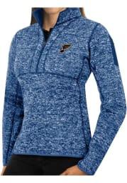 Antigua St Louis Blues Womens Blue Fortune 1/4 Zip Pullover