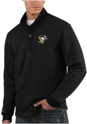 Antigua Pittsburgh Penguins Mens Black Pivotal Long Sleeve Sweater