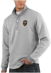 Antigua Cleveland Cavaliers Mens Grey Pivotal Long Sleeve Sweater