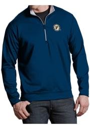 Antigua St Louis Blues Mens Navy Blue Leader Long Sleeve 1/4 Zip Pullover