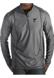 Antigua St Louis Blues Mens Grey Tempo Long Sleeve 1/4 Zip Pullover