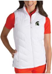 Antigua Michigan State Spartans Womens White Heiress Vest