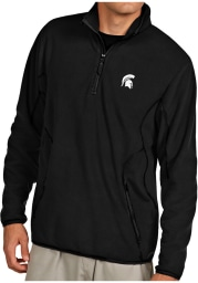 Antigua Michigan State Spartans Mens Black Ice Long Sleeve 1/4 Zip Pullover