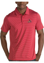 Antigua St Louis Cardinals Mens Red Quest Short Sleeve Polo