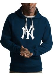 Antigua New York Yankees Mens Navy Blue Victory Long Sleeve Hoodie