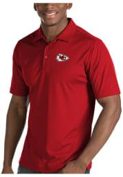 Antigua Kansas City Chiefs Mens Red Inspire Short Sleeve Polo