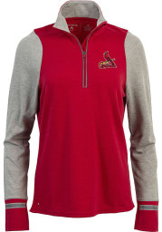 Antigua St Louis Cardinals Womens Red Pitch Pullover 1/4 Zip Pullover