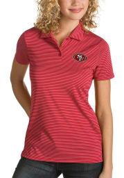 Antigua San Francisco 49ers Womens Red Quest Short Sleeve Polo Shirt