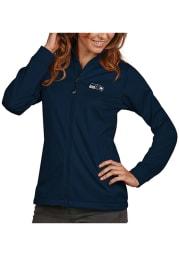 Antigua Seattle Seahawks Womens Navy Blue Golf Light Weight Jacket