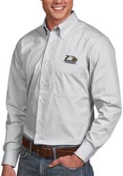 Antigua Georgia Southern Eagles Mens Silver Dynasty Long Sleeve Dress Shirt