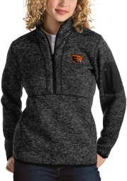 Antigua Oregon State Beavers Womens Black Fortune 1/4 Zip Pullover