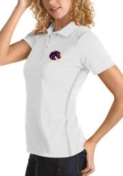 Antigua Boise State Broncos Womens White Merit Short Sleeve Polo Shirt