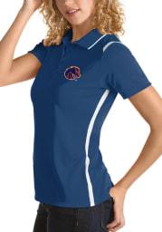 Antigua Boise State Broncos Womens Blue Merit Short Sleeve Polo Shirt