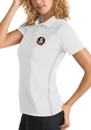 Antigua Florida State Seminoles Womens White Merit Short Sleeve Polo Shirt