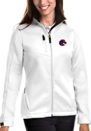 Antigua Boise State Broncos Womens White Traverse Medium Weight Jacket