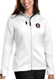 Antigua Florida State Seminoles Womens White Traverse Medium Weight Jacket