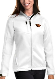 Antigua Oregon State Beavers Womens White Traverse Medium Weight Jacket