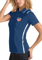 Antigua FC Cincinnati Womens Blue Merit Short Sleeve Polo Shirt