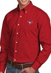 Antigua Toronto Blue Jays Mens Red Dynasty Long Sleeve Dress Shirt
