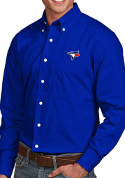 Antigua Toronto Blue Jays Mens Blue Dynasty Long Sleeve Dress Shirt