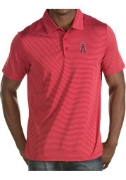 Antigua Los Angeles Angels Mens Red Quest Short Sleeve Polo