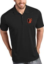 Antigua Baltimore Orioles Mens Black Tribute Short Sleeve Polo