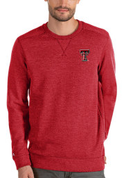 Antigua Texas Tech Red Raiders Mens Red Defender Sweater Long Sleeve Sweater