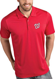 Antigua Washington Nationals Mens Red Tribute Short Sleeve Polo